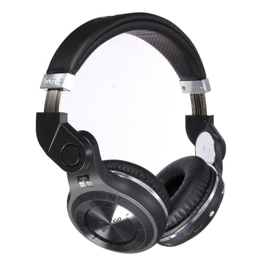 Bluedio T2+ Stereo Wireless Bluetooth Headphones with Micro SD Slot (Black) - Intl