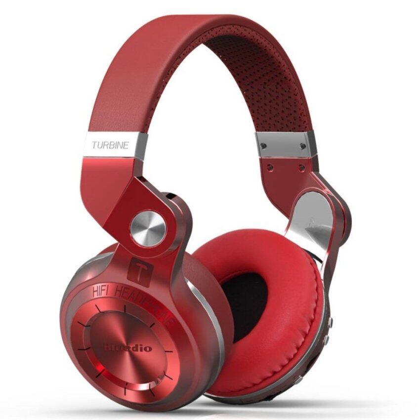 Bluedio T2+ (Turbine 2 Plus) Wireless Bluetooth Stereo Headphones Micro SD Card/FM Radio Bluetooth 4.1 Headset On-Ear Headphones - intl