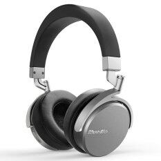 Bluedio Vinyl Rotary Wireless Bluetooth 4.1 Headphones Stereo Mic (Black/Silver) image