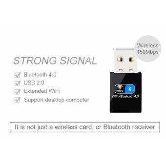 Bluetooth 4.0 150Mbps Mini Wireless USB WIFI Adapter LAN WIFI Network Card For IPhone(Black) - intl