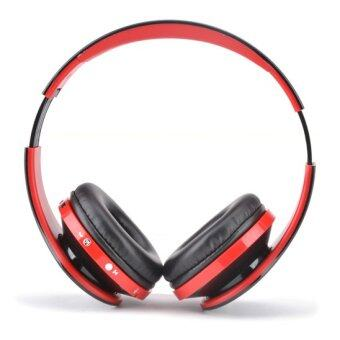 Bluetooth 4.0 Stereo Bluetooth Wireless Headphones With Call Mic (Red) - Intl