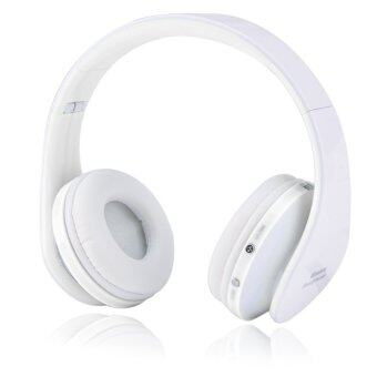 Bluetooth 4.0 Stereo Bluetooth Wireless Headphones With Call Mic (White) - Intl