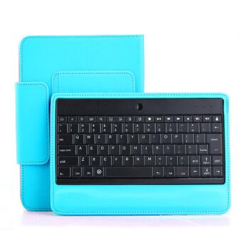 Bluetooth Keyboard Magnetically Detachable for Samsung Galaxy Tab4 10.1 - Blue