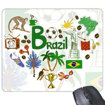 Brazil Vintage Illustration Mouse Pad Rubber Cloth Office Home Mouse Design Fashion Gaming Mouse Pad