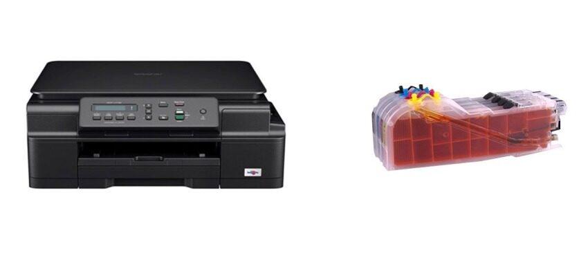 Brother MFC J105 +Tank Print,Copy,Scan,Wifi(Black)