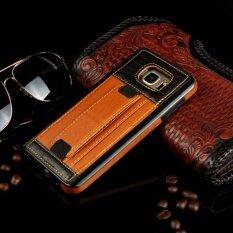 เช็คราคา Business Hand Strap Card Slot Stand Holder Soft Funda Phone Case Pu Leather Back Cover Cases For Samsung Galaxy S7 Edge - Intl ราคา 244 บาท(-58%) ...