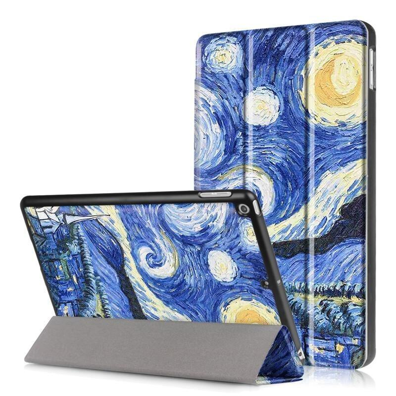 BYT Colorful Printing Tablet Leather 3 Folio Flip Cover Case for Apple iPad Pro 9.7 (201 ...