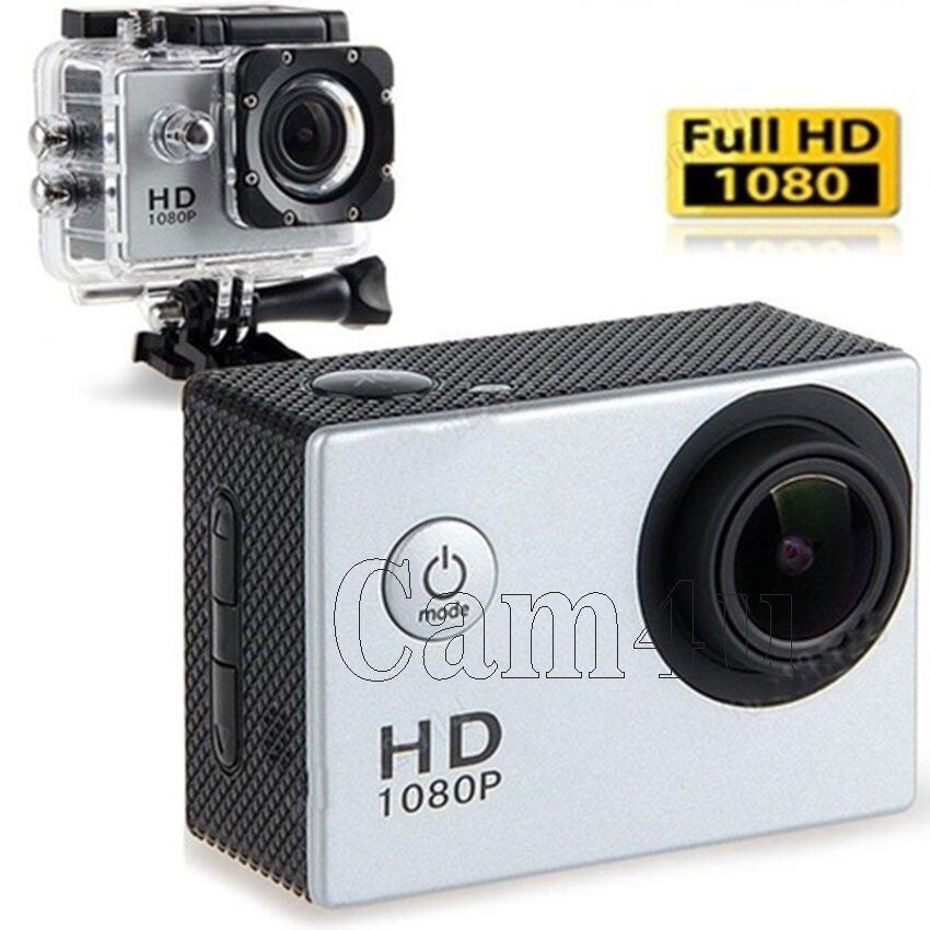 Cam4u Action Camcoder กล้องกันน้ำ H.264 Full HD 1080p(สีเทา) ...