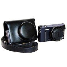 Camera Bag Pu Leather Soft Camera Case Cover Bag For Casioex10ex100 With Shoulder Strap (black) - Intl ราคา 461 บาท(-30%)