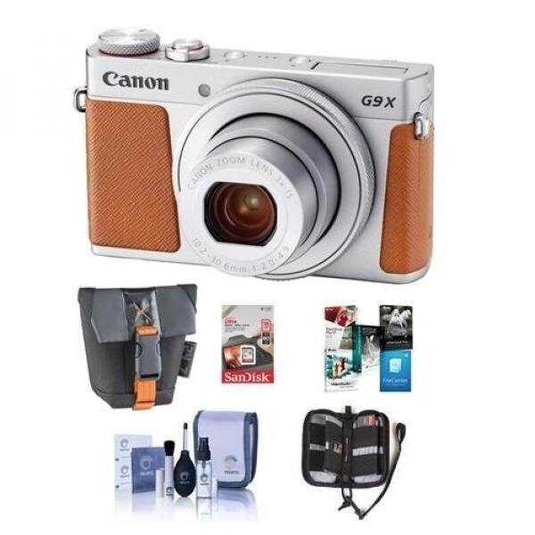Compare Prices of Canon PowerShot G9 X Mark II 20.1MP Digital Camera, Silver - Bundle With 16GB SDHC Card, Camera Case, Cleaning Kit, Memory Wallet, Software Package - intl Online