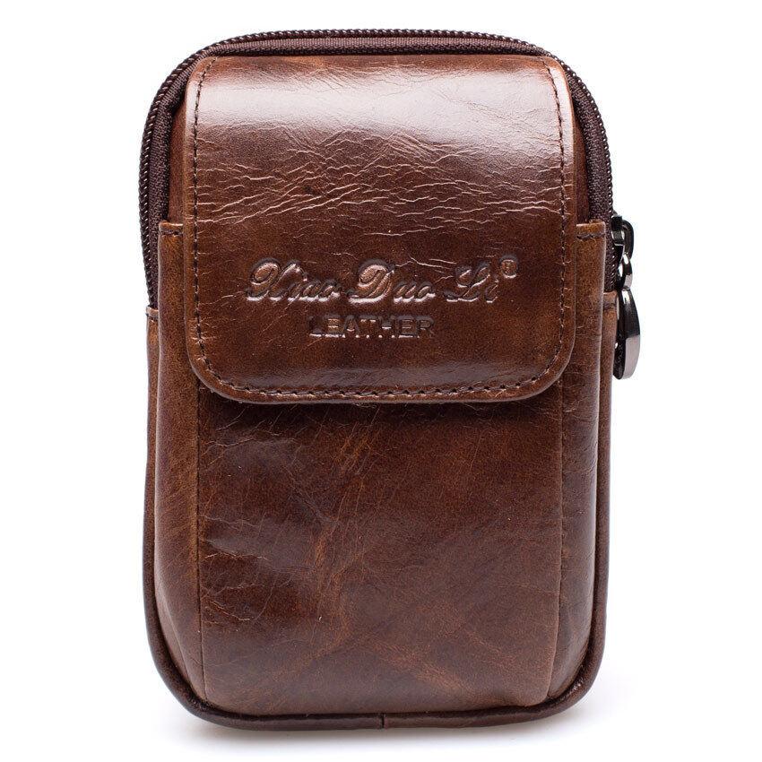 Chinatown Leather กระเป๋าใส่มือถือหนัง แนวตั้ง - สีน้ำตาลเทา ...