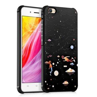 COCOSE Phone Case For Vivo Y55 / Y55A Silicone TPU Back Cover Star Love Painting Shockproof Waterproof Dirt Resistant Phone Shell (Black) - intl