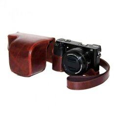 Coffee Pu Leather Camera Holster Photo Shoulder Bag Case Coverforsony A6000 - Intl ราคา 486 บาท(-30%)
