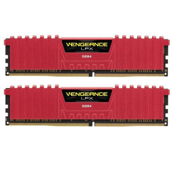 CORSAIR RAM For PC 16/3000 CORSAIR (CMK16GX4M2B3000C15R-TH) 2X8 (RED)