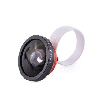Detachable 0.4X Super Wide Angle Lens for iPhone 4/4S/5/Samsung Galaxy S3 i9300 Red Black