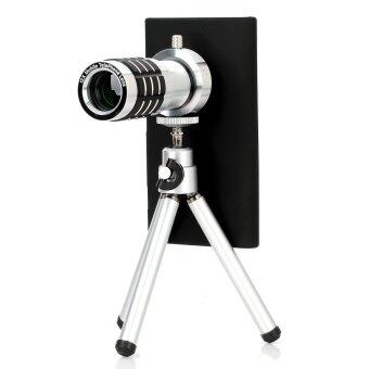 Detachable 12X Telephoto Lens Aluminum Alloy Set for Nokia 920 Black/Silver