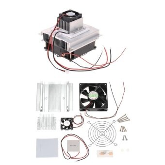DIY Thermoelectric Peltier Refrigeration CoolingSystemKitSemiconductor Cooler Conduction Module + Radiator +Cooling Fan+TEC1-