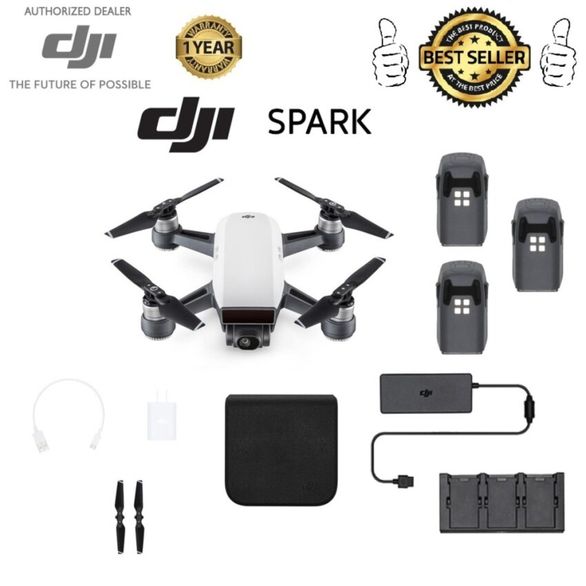 DJI SPARK with two extra battery and hub charger