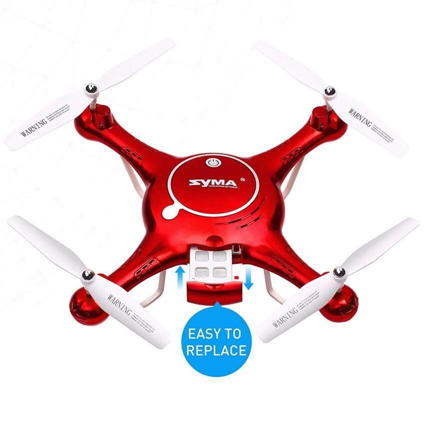 DRONE โดรน drone SYMA X5UW 720P WIFI โดรนบังคับ เครื่องบินบังคับ รุ่น X5UW (สีแดง) กล้องชัดมาก