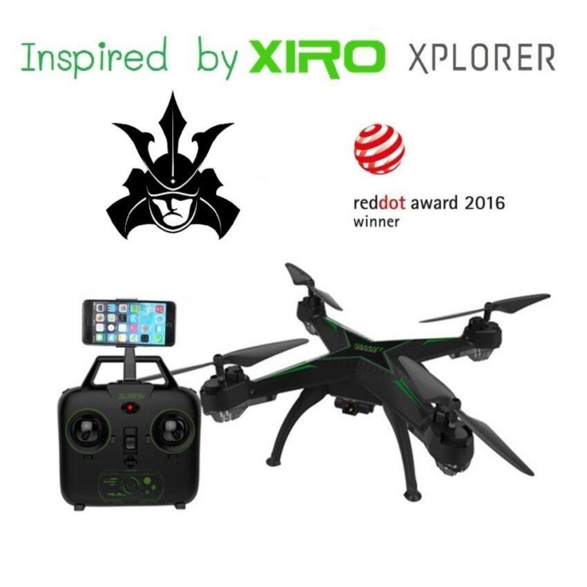 DRONE โดรน jd10 wifi ที่มีแรงบันดาลใจมาจาก xiro explorer ที่ได้รับรางวัลโดรนยอดเยี่ยม red dot 2016 สามารถวาดเส้นทางการบินได้ WiFi FPV 720P HD พร้อมระบบถ่ายทอดสดแบบ Realtime ดูผ่านมือถือ(มีระบบ ล็อกความสูง + ปุ่มบินกลับ)