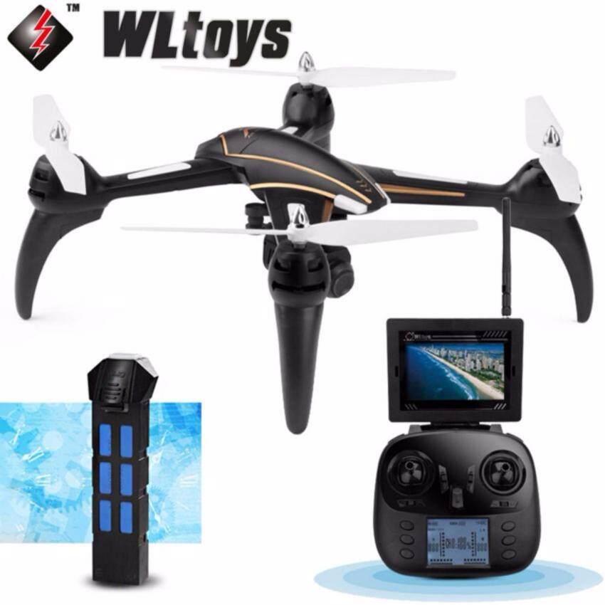 DRONE โดรนติดกล้อง wltoy q696 dragonfly พร้อมจอ fpv ภาพชัด บินนิ่ง สีดำ ถ่ายภาพนิ่งและวีดีโอได้