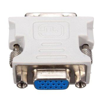 DVI-D 24 + 1 Male to VGA Female Adapter (White).