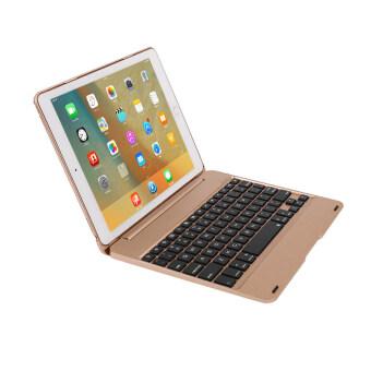 F19 บลูทูธคีย์บอร์ดเก่งยกเคสสำหรับ iPad Pro iPad Air 2/(ทอง) - Intl