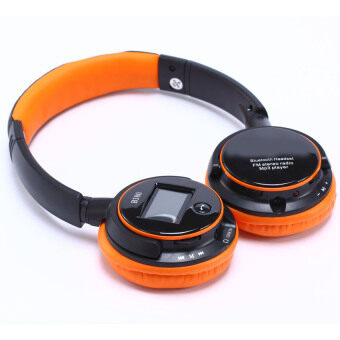 Fancytoy Stereo FM Radio Bluetooth MP3 Screen Headset MicrophoneHeadphone 3.5mm (Orange)