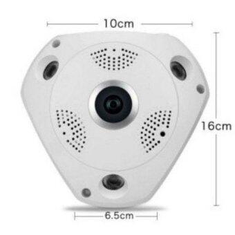 กล้อง Fisheye (พาโนรามา) VR CAM กล้องวงจรปิดไร้สาย 3D Panoramic Camera Lens 360°(สีขาว)