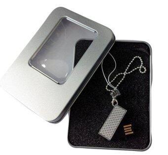 Flash Drive 8GB พวงกุญแจ จี้เพชร (Silver)