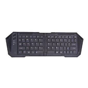 Fold Bluetooth Keyboard Touchpad Wireless Keyboard for Windows Android iOS Computer Phones Black