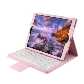 Folding Leather Folio Cover with Removable Bluetooth Keyboard for iPad Pro 9.7 Tablet - intl