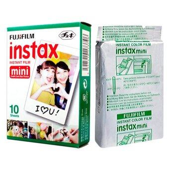 Fujifilm Instax Mini Instant White 10 Film for Fuji 7s 8 25 50s 7090 / Polaroid 300 Instant Camera / Share SP-1 Printer