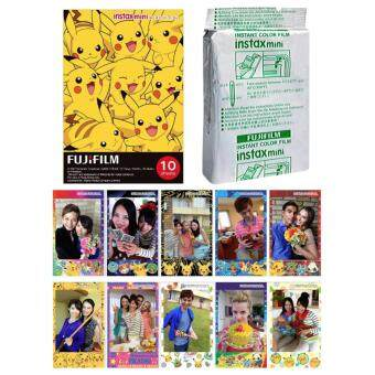Fujifilm Instax Mini Pokemon Instant 10 Film for Fuji 7s 8 25 50s70 90 / Polaroid 300 Instant Camera / Share SP-1, SP-2 Printer -intl