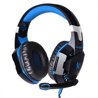 G2000-hyun lights Stereo Gaming Headset USB + 3.5mm audio cable (blue)