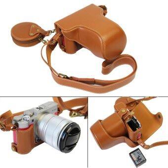 Generic เคสกล้องหนัง Fuji XA3 รุ่นใหม่เปิดแบตได้ แถมกระเป๋าเล็ก Leather Case Fuji X-A3