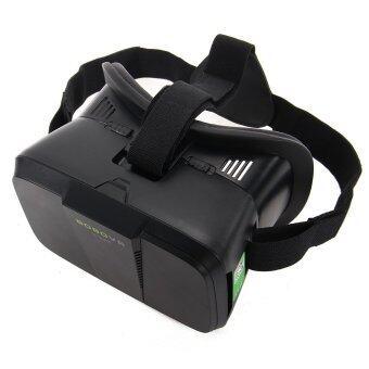 Google Cardboard VR 2nd ความจริงเสมือน 3D แว่นตาบลูทูธควบคุมสำหรับโทรศัพท์ (สีดำ)