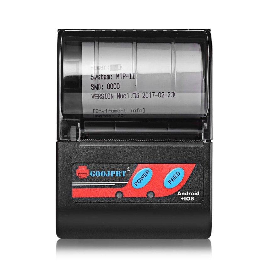 GOOJPRT MTP - II 58MM Bluetooth Thermal Printer For Windows Android iOS EU Plug(Black) - intl