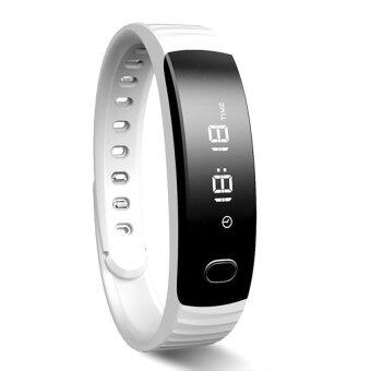H8 Smart Bracelet Sports Activity Wristband Watch Cell Phone Matewith Pedometer Sleep Monitor Remote Camera and Bluetooth MusicFunction for iPhone 5S 6 Plus HTC One M8 Sony Z3 Huawei SamsungGalaxy Note 5 White - Intl