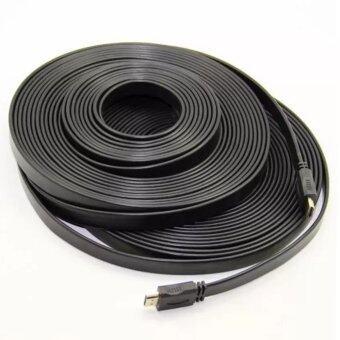 ซื้อ/ขาย สาย HDMI 10 เมตร v1.4 แบบแบน (Black) HDMI CABLE