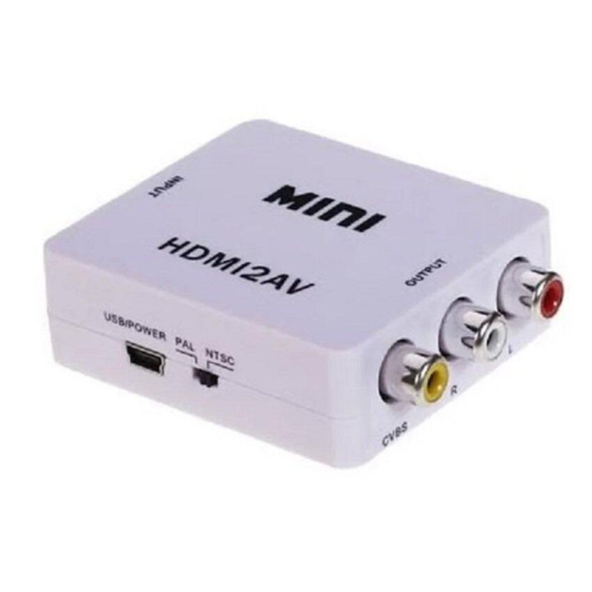 HDMI TO AV Converter (White) .