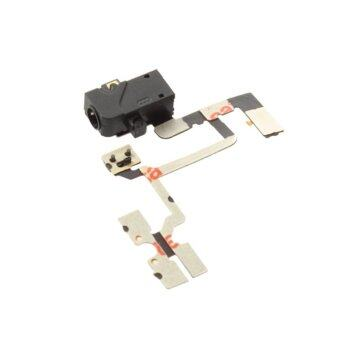 Headphone Audio Jack Power Volume Switch Ribbon Flex Cable for iPhone 4 4G