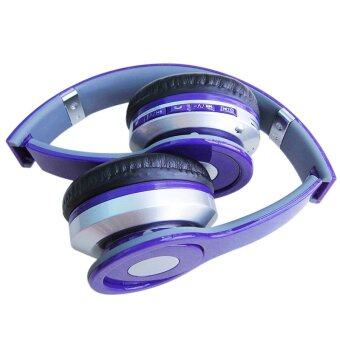 Headphone Overhead Wireless Bluetooth For Mp3 PlayerSmartphone (Color:Purple) - intl