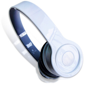 Headphone Overhead Wireless Bluetooth For Mp3 PlayerSmartphone (Color:White) - intl