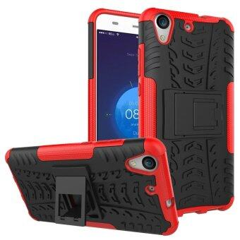 Heavy Duty Rugged Hybrid Dual Layer Kickstand Shockproof CaseProtective Cover Case for Huawei Y6 II / Y6 2 / Y6II / Honor 5A(Red) - intl