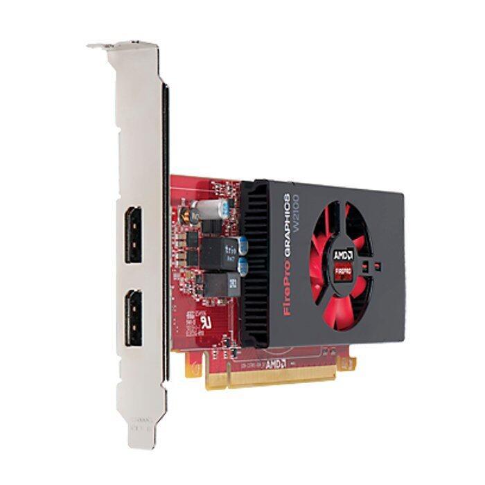 ลด50%Hewlett Packard HP AMD FirePro W2100 2GB Graphics (2xDP1.2, PCIe3.0, no box, LP only), 110y ซื้อเลย