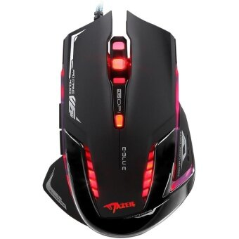 High quality/ E-3lue Mazer II 2500 DPI 6 Button Blue LED USB Gaming Game Mouse - intl