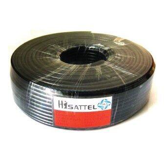 HISATTEL สายนำสัญญาณRG6 ชิลด์ 64% ยาว100เมตร - สีดำ