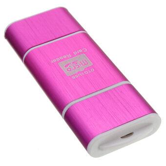 HKS Micro USB to OTG Micro SD Card Reader (Pink) - intl