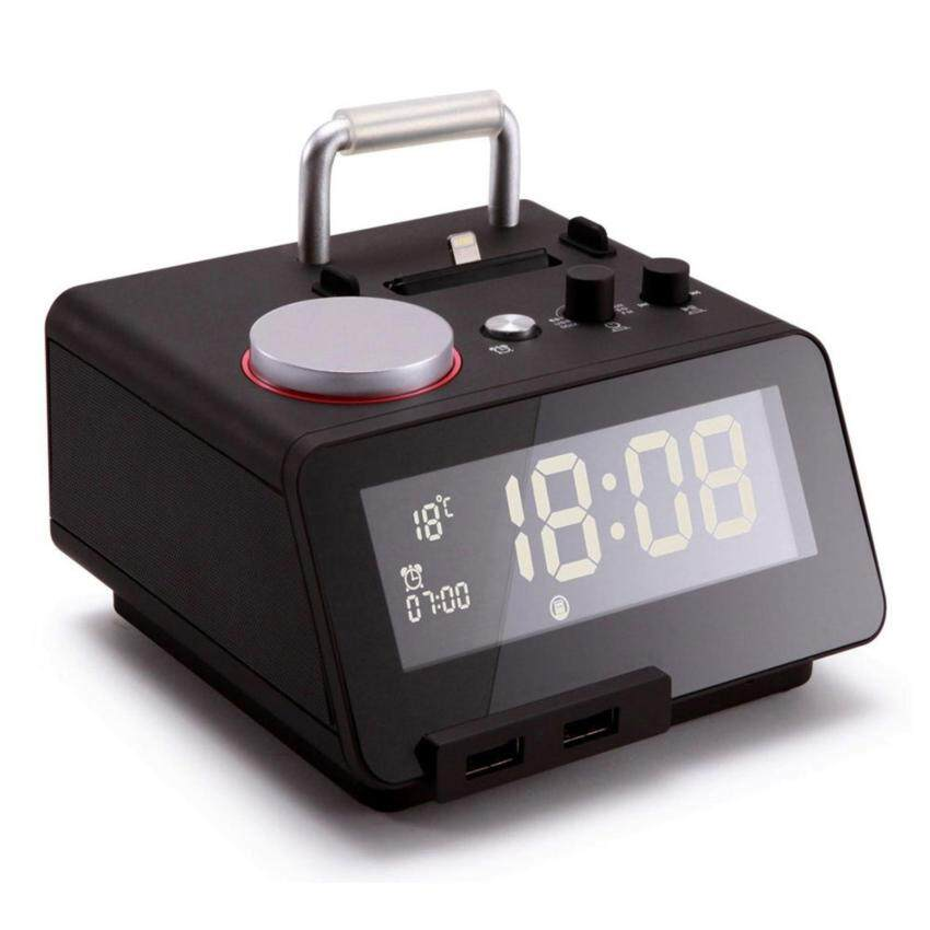 Homtime C12pro alarm clock radio Bluetooth speaker with lightning docking station for iPhone